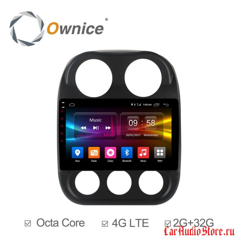 Ownice C500+ S1252P для Jeep Compass (Android 6.0)