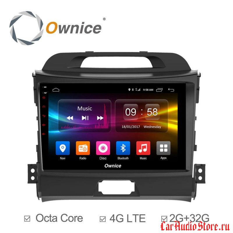 Ownice C500+ S9735P для KIA Sportage 3 (Android 6.0)