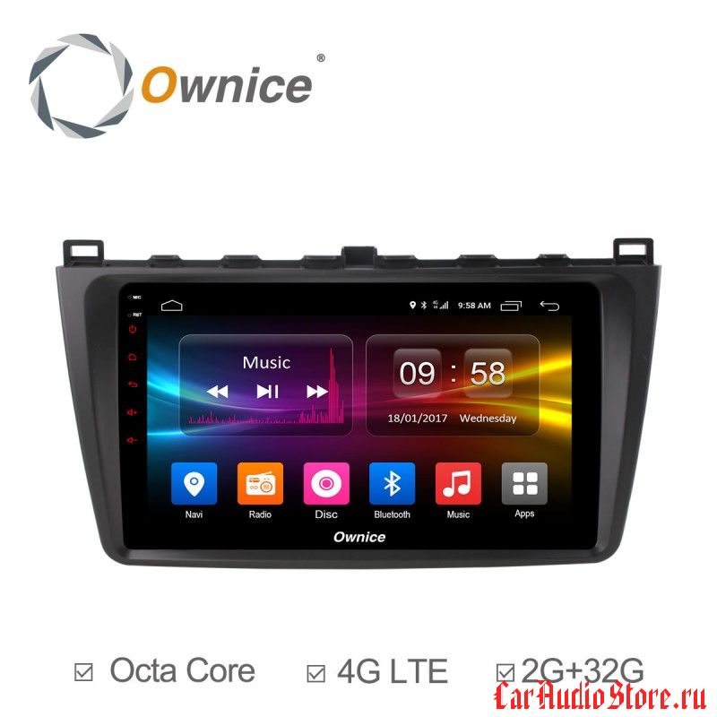 Ownice C500+ S9506P для Mazda Mazda 6, 2009 (Android 6.0)