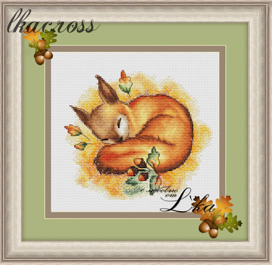 """Autumn dream"". Digital cross stitch pattern."