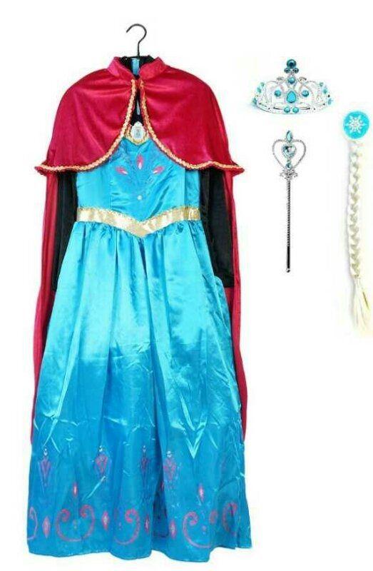 Платье костюм Эльзы коронация с аксессуарами и поющей брошкой