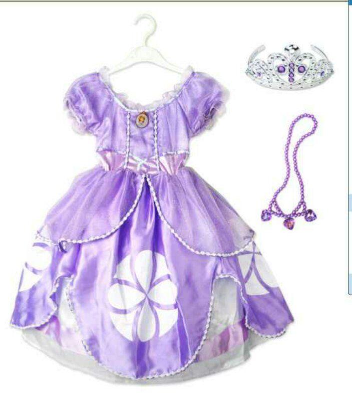 Платье принцессы София Прекрасная с аксессуарами