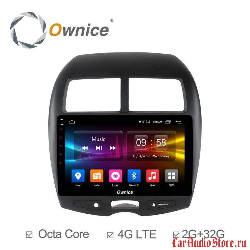 Ownice C500+ S1631P для Mitsubishi ASX (Android 6.0)