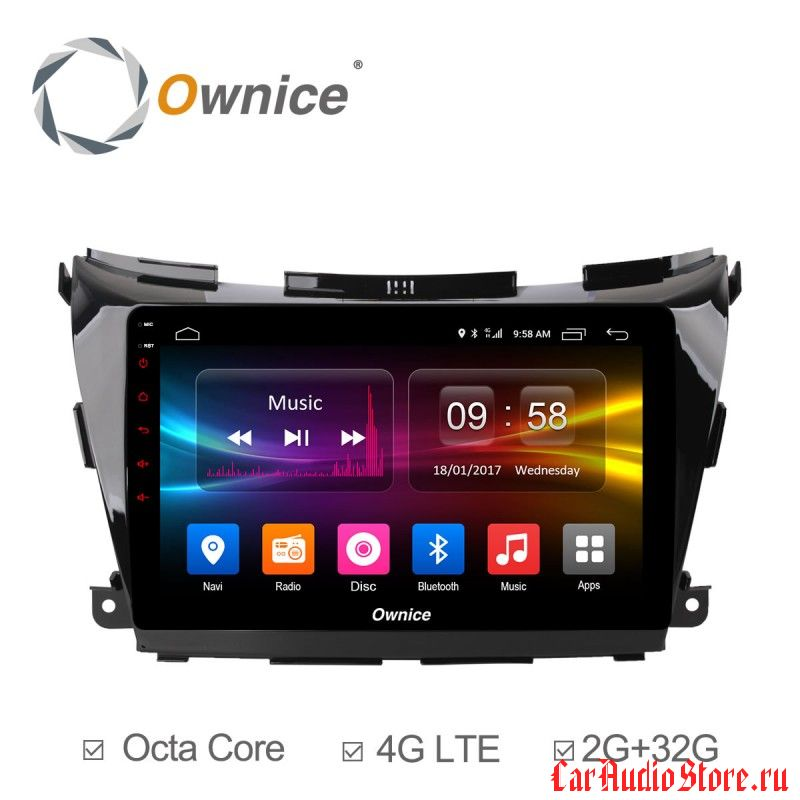 Ownice C500+ S1663P для Nissan Murano 3, Z52 (Android 6.0)