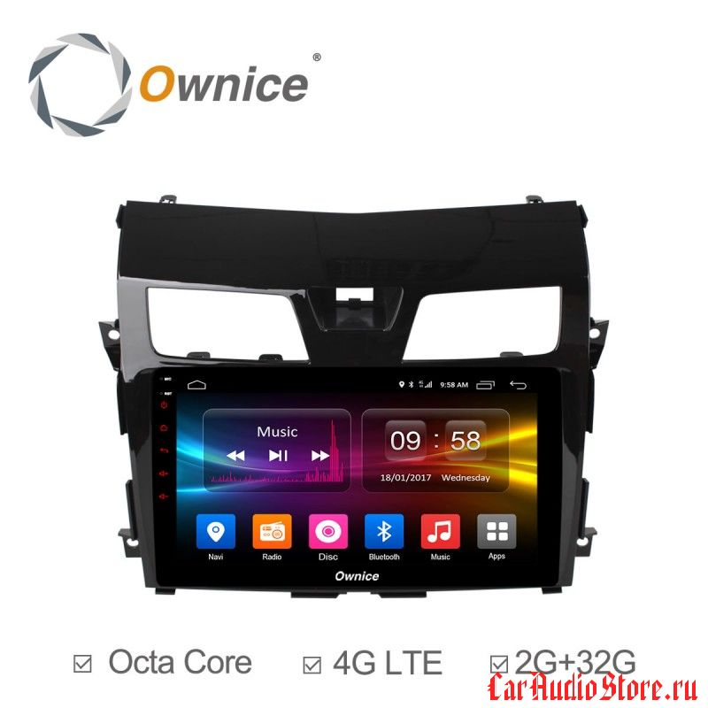 Ownice C500+ S1665P для Nissan Teana 3 (Android 6.0)