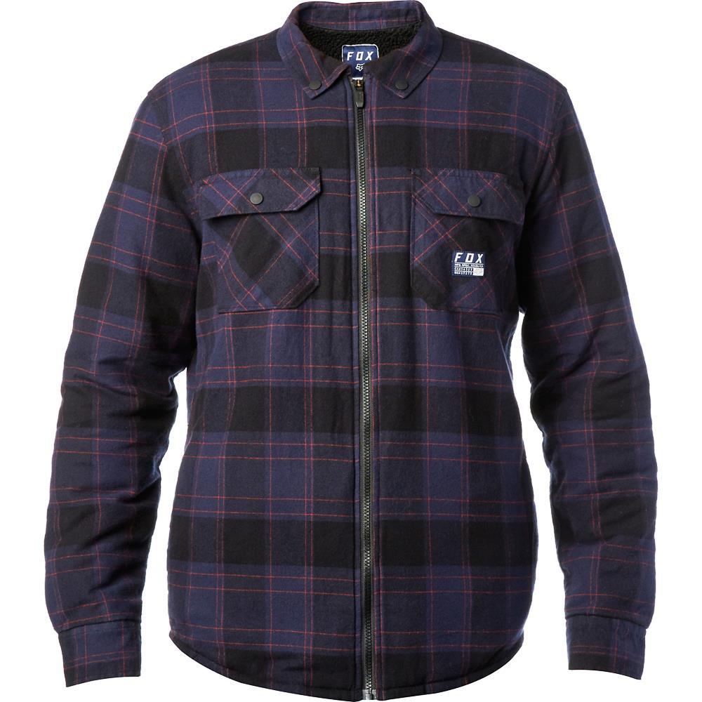 Fox - Torrent Flannel Midnight рубашка утепленная, синяя