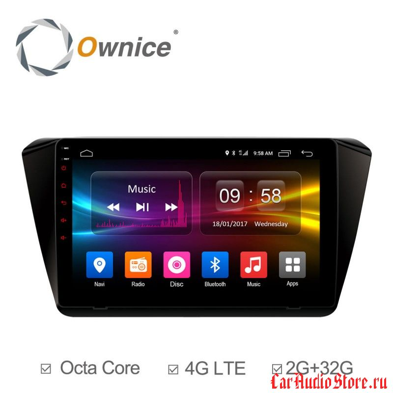 Ownice C500+ S1917P для Skoda Superb B8 (Android 6.0)