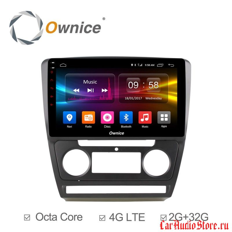 Ownice C500+ S1920P для Skoda Octavia A5 (Android 6.0)