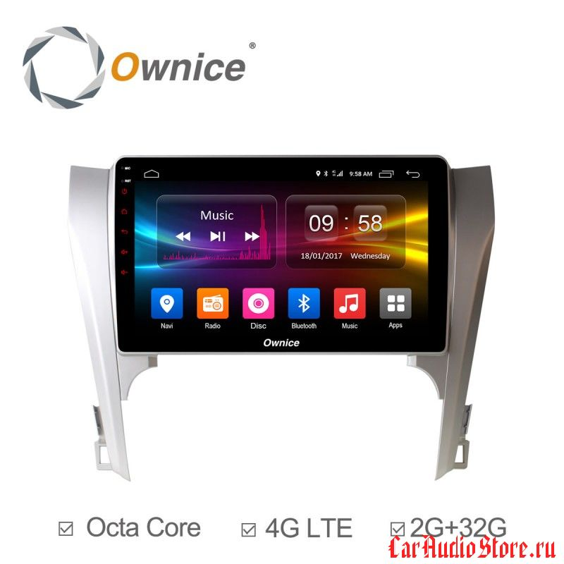 Ownice C500+ S1607P для Toyota Camry v50 (Android 6.0)
