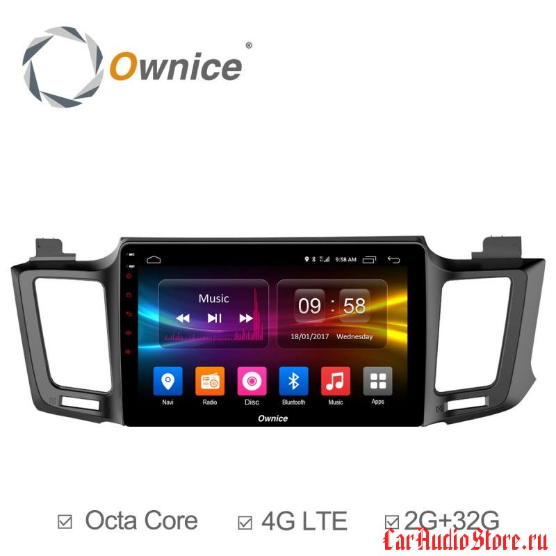 Ownice C500+ S1610P для Toyota Rav4, 2013 (Android 6.0)