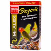 Корм Mr.Alex Экзот для средних и мелких попугаев 500гр