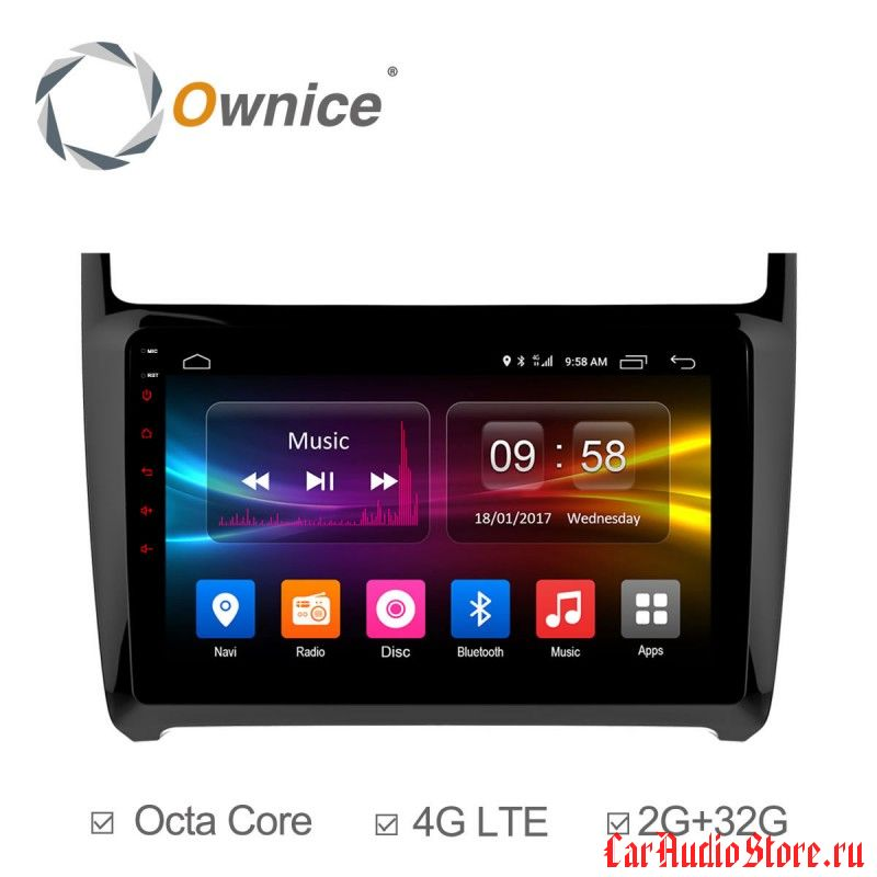 Ownice C500+ S9903P для Volkswagen Polo (Android 6.0)