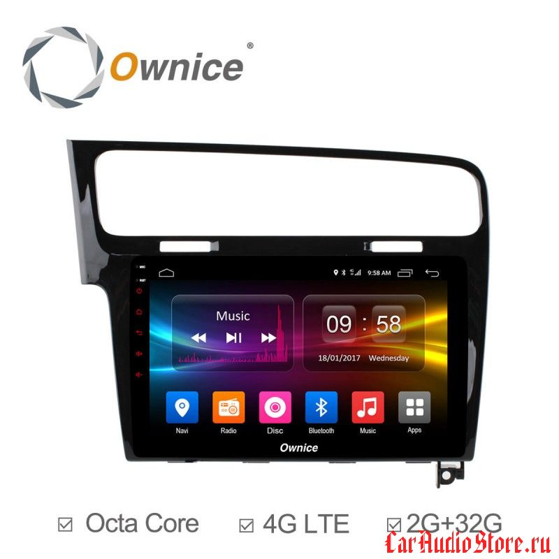 Ownice C500+ S1907P для Volkswagen Golf 7 (Android 6.0)