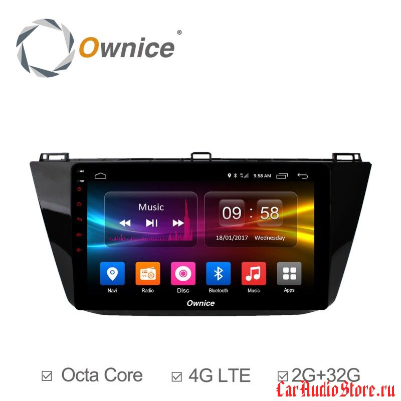 Ownice C500+ S1913P для Volkswagen Tiguan 2017 (Android 6.0)