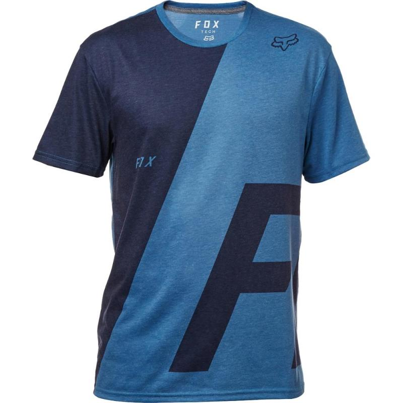 Fox - Inverter SS Tech Tee Heather Blue футболка, синяя