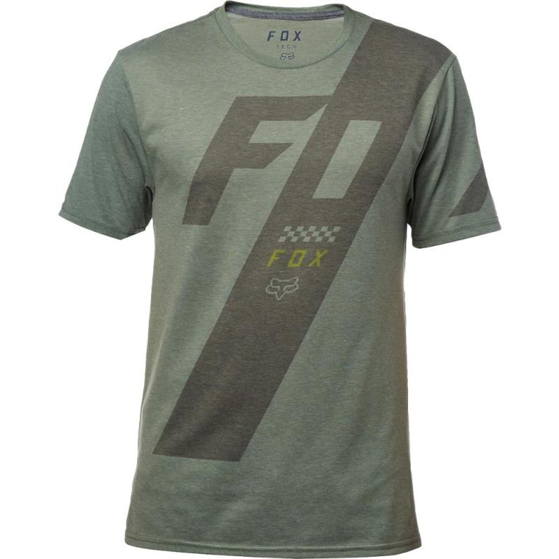 Fox - Scalene SS Tech Tee Heather Dark Fatigue футболка, серая