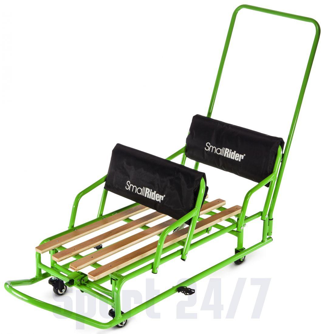 Детские санки-трансформер для двойни с колесиками и толкателем Small Rider Snow Twins 2