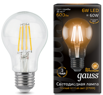 Лампа Gauss LED E27 6W 2700К
