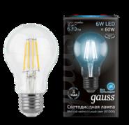 Лампа Gauss LED E27 6W 4100К