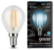 Лампа Gauss LED E14 5W 4100K