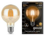 Лампа Gauss LED E27 6W 2400K