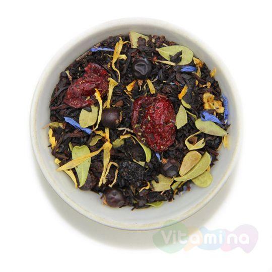 Черный чай с Клюквой и Брусничным Листом - Таежный Сбор, 100г