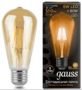Лампа Gauss LED E27 6W  2400К