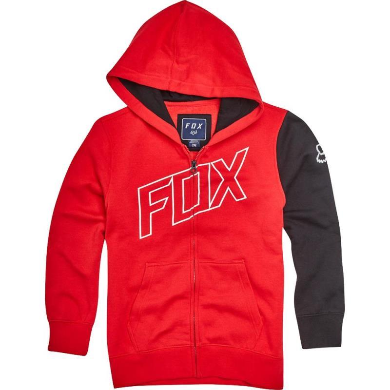 Fox - Youth Moto Vation Zip Dark Red толстовка подростковая, красная