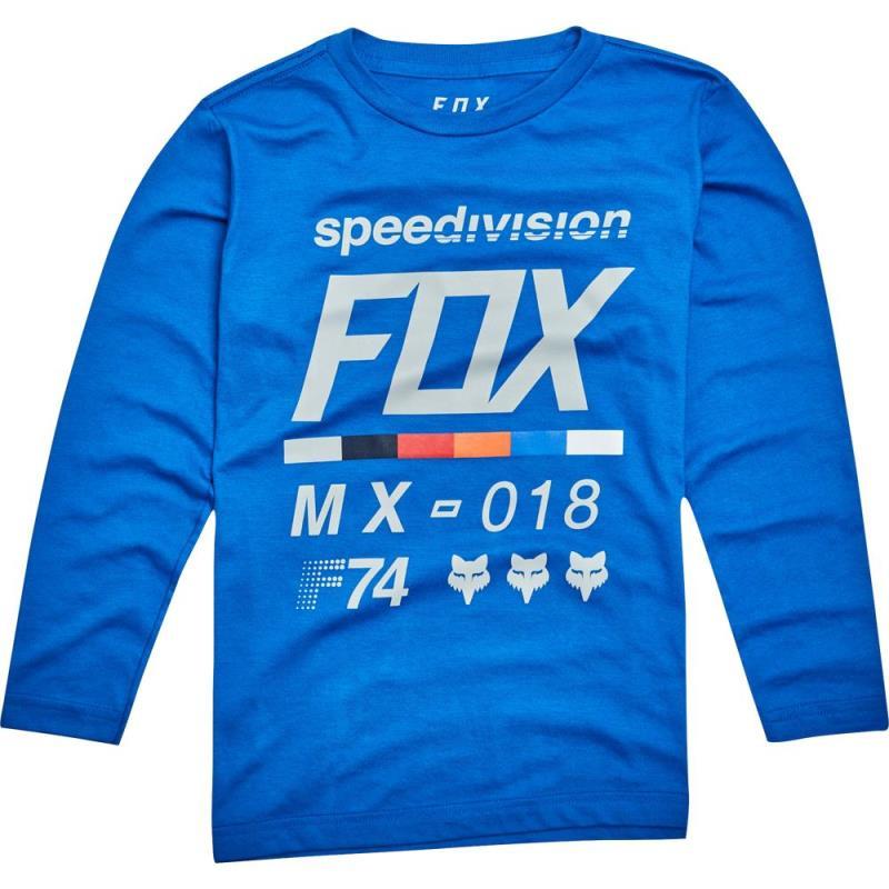Fox - Youth Draftr LS Tee Blue футболка с длинным рукавом подростковая, синяя