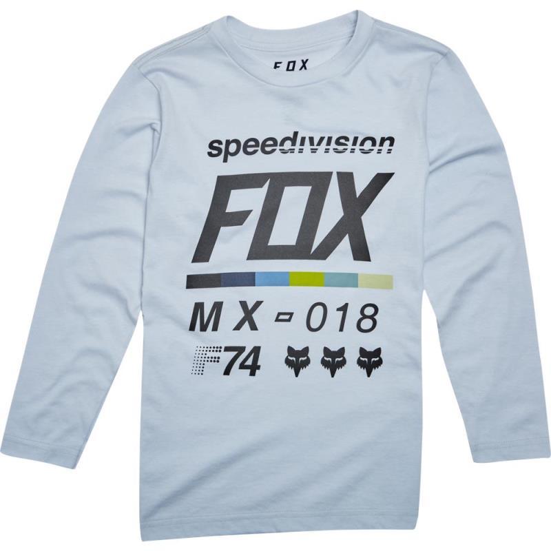 Fox - Youth Draftr LS Tee Light Heather Grey футболка с длинным рукавом  подростковая, серая