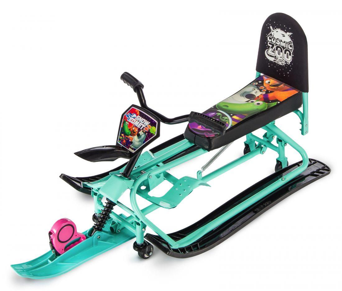 Детский снегокат-трансформер с колесиками и спинкой Small Rider Snow Comet 2
