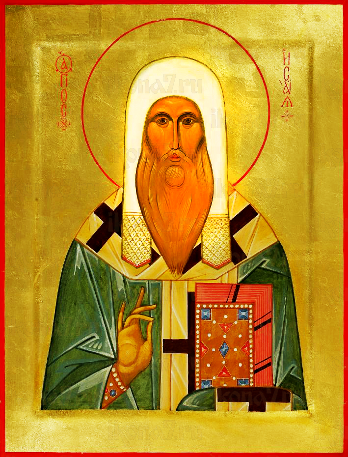 Исаия Ростовский (рукописная икона)