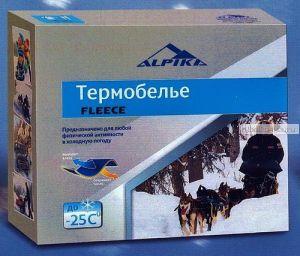 Термобельё Alpica Fleece до -25°,  200гр. полиэстер; мягкий теплый флис, воротник на молнии ( Артикул: Alpica FLEECE)