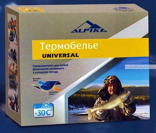 Купить Термобельё Alpica Universal до -30°, 250гр. вафля , полиэстер + хлопок ворсистый акрил (Артикул: UNIVERSAL)