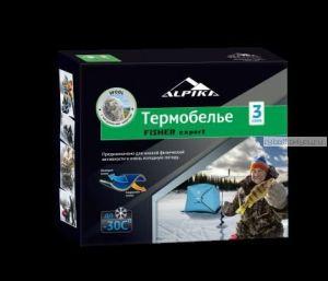 Термобельё Alpica Fisher Expert до -35°,  275гр. тёплое трехслойное шерстяное с начёсом