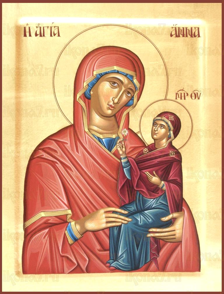Икона Анна праведная, мать Богородицы