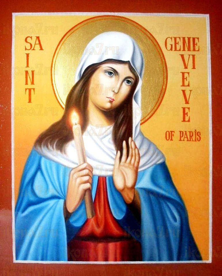 Геновефа Парижская (Женевьева) (икона на дереве)