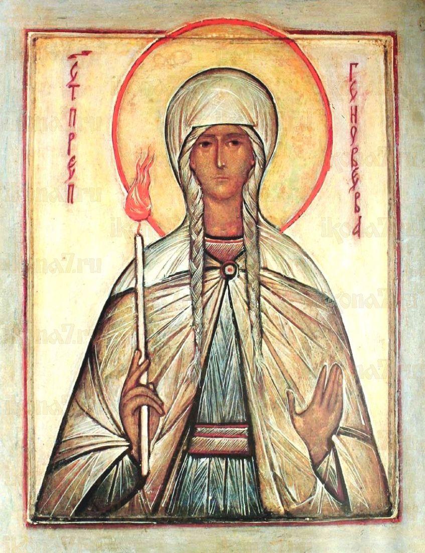 Икона Геновефа Парижская (Женевьева) (копия старинной)