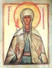 Геновефа Парижская (Женевьева) (копия старинной иконы)