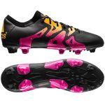 Футбольные бутсы adidas X 15.1 FG/AG чёрно-розовые