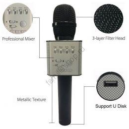 Micgeek Q9 беспроводной микрофон bluetooth для смартфонов, телефон android и Iphone Черный