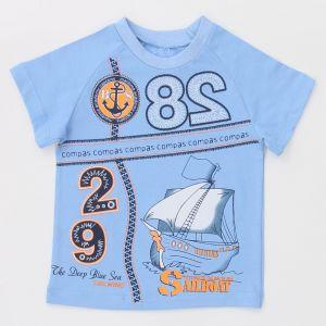 голубая футболка для мальчика
