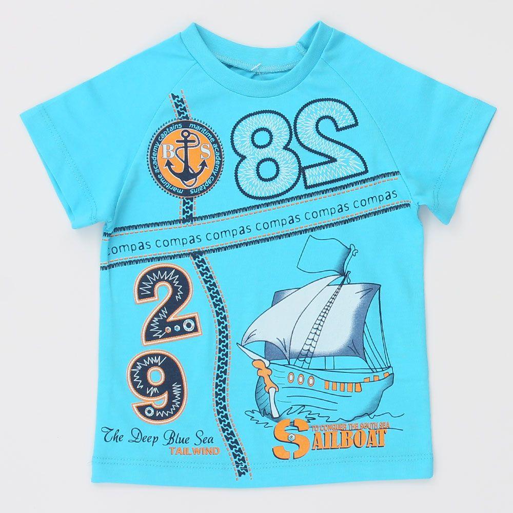 Бирюзовая футболка Корабль