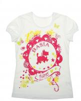 Блуза для девочки с коротким рукавом