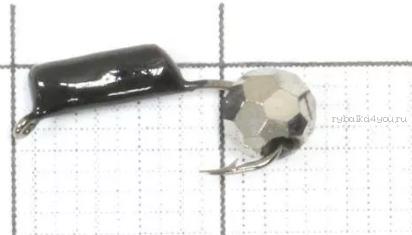 Купить Мормышка вольфрамовая True Weight Гвоздешарик гвоздик d2,5 Многогранное серебро