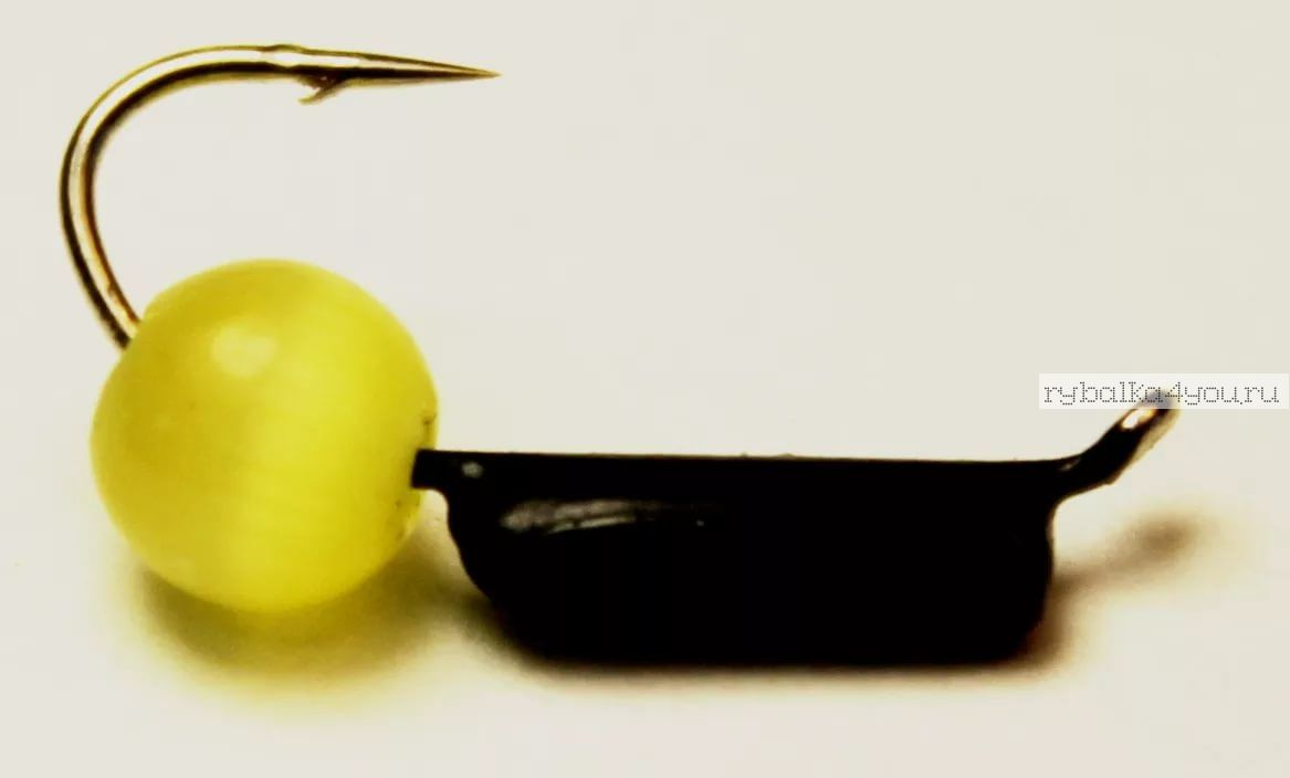 Купить Мормышка вольфрамовая True Weight Кошачий глаз гвоздик d3,0 желтый (10шт)