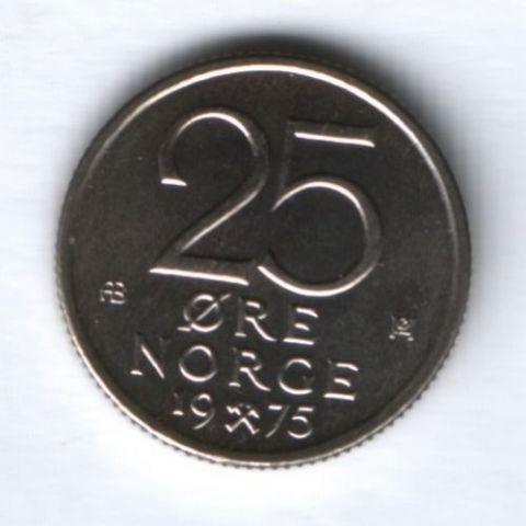 25 эре 1975 г. Норвегия UNC