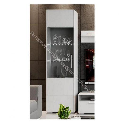 Шкаф для посуды «Наоми» (Белый глянец)