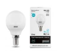 Лампа Gauss LED 8W E14 4100K