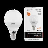Лампа Gauss LED 10W E14 2700K